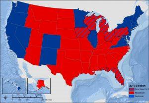 2016 presidential map.