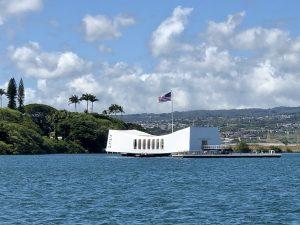 Photograph of Pearl Harbor Memorial.