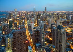 Photograph of Chicago's skyline