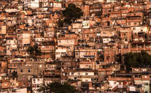 Photograph of hillside favela in Rio de Janeiro.