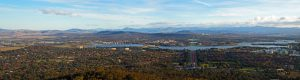 Aerial photograph of Canberra, the capital city of Australia.
