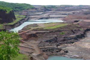 Photograph of iron mine in Hibbing, Minnesota.
