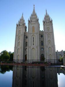 Mormon tabernacle in Salt Lake City, Utah.