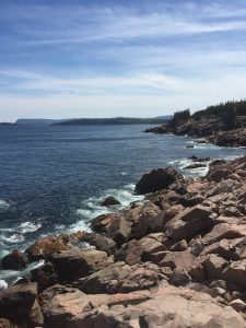 Photograph of Nova Scotia coastline.