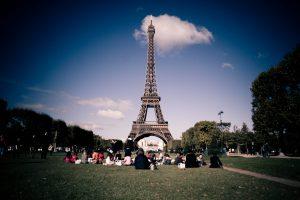 Photograph of the Eiffel Tower in Paris, France.
