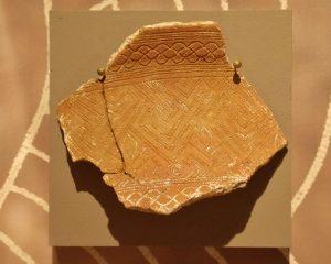 Distinctive pottery shard.