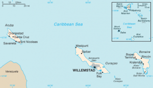 Map of the Netherlands Antilles of 1986.