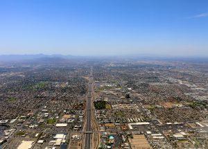 Aerial photo showing expansive area of Phoenix, Arizona.