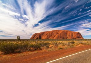 Photography of Uluru (aka Ayers Rock), Australia's most recognized monolith.