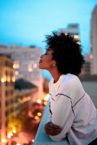 Photograph of African-American woman in Atlanta, Georgia.