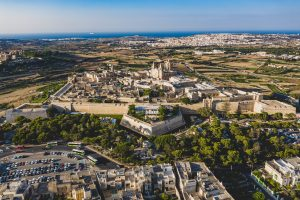 Photograph of walled city of Mdina in Malta.