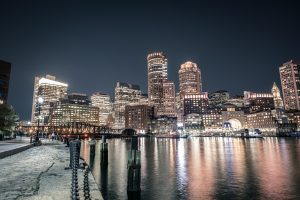 Harbor photograph in Boston, Massachusetts.