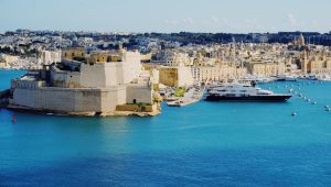 Photograph of port in Malta.