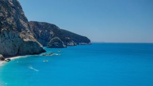Coastal photograph in Greece.