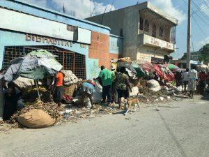 Photograph of street scene in Haiti.